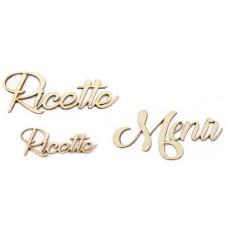2 SCRITTE RICETTE + 1 MENU'